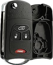 KeylessOption Keyless Entry Remote Fob Car Flip Key Shell Case Pad Housing Uncut Blank Ignition Blade