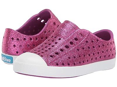 Native Kids Shoes Jefferson Bling Glitter (Toddler/Little Kid) (Origami Purple Bling Glitter/Shell White) Girls Shoes
