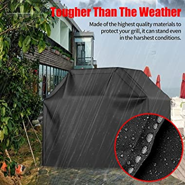 VIBOOS Grill Cover, 58in BBQ Gas Grill Cover, Waterproof, Weather Resistant, Sun Protection, Fade Resistant, uv Resistant, fo
