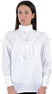 Corsia Cotone Bianco Occhiello Camicetta