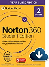 $72 » Norton 360 Student Edition 2021 – Antivirus software for 2 Devices – Includes VPN, PC Cloud Backup & Dark Web Monitoring p...