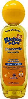 Chamomile Ricitos de Oro Shampoo| Baby Shampoo with Pop-Up Rattle Cap, Paraben Free Product for Baby's Delicate Hair; 8.4 ...