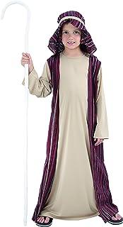 Flowers Paul–San Giuseppe/Re Magi/Virgin Mary Costume Child San Giuseppe L (7-9 anni) brown