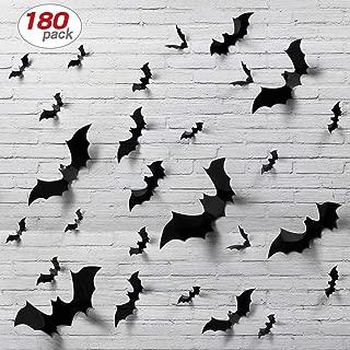 180pcs Halloween Bats Decor Home Decor Sticker Removable Bat Wall Stickers Halloween Bat Decoration Halloween Bat Stickers