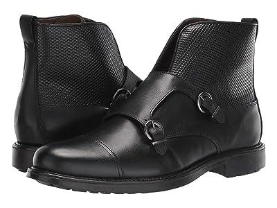 Massimo Matteo Double Monk Boot (Black) Men