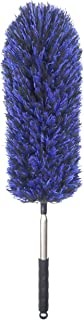 Microfiber Feather Duster with Telescoping Extension Pole/Hypoallergenic Dust Cleaner/Bendable Flexible Cleaning Head/Extendable Tool for Ceiling Fan,Gap Dust,Blinds and Cobweb-Wet or Dry Use(Blue)