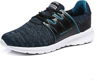 Action Shoes Men's Black Sneakers  - 9 UK (43EU) (SSE-104-BLACK-SEAGREEN)