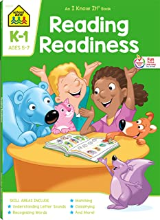 School Zone - Reading Readiness Workbook - 64 Pages, Ages 5 to 7, Kindergarten to 1st Grade, Story Order, Letter Sounds, M...