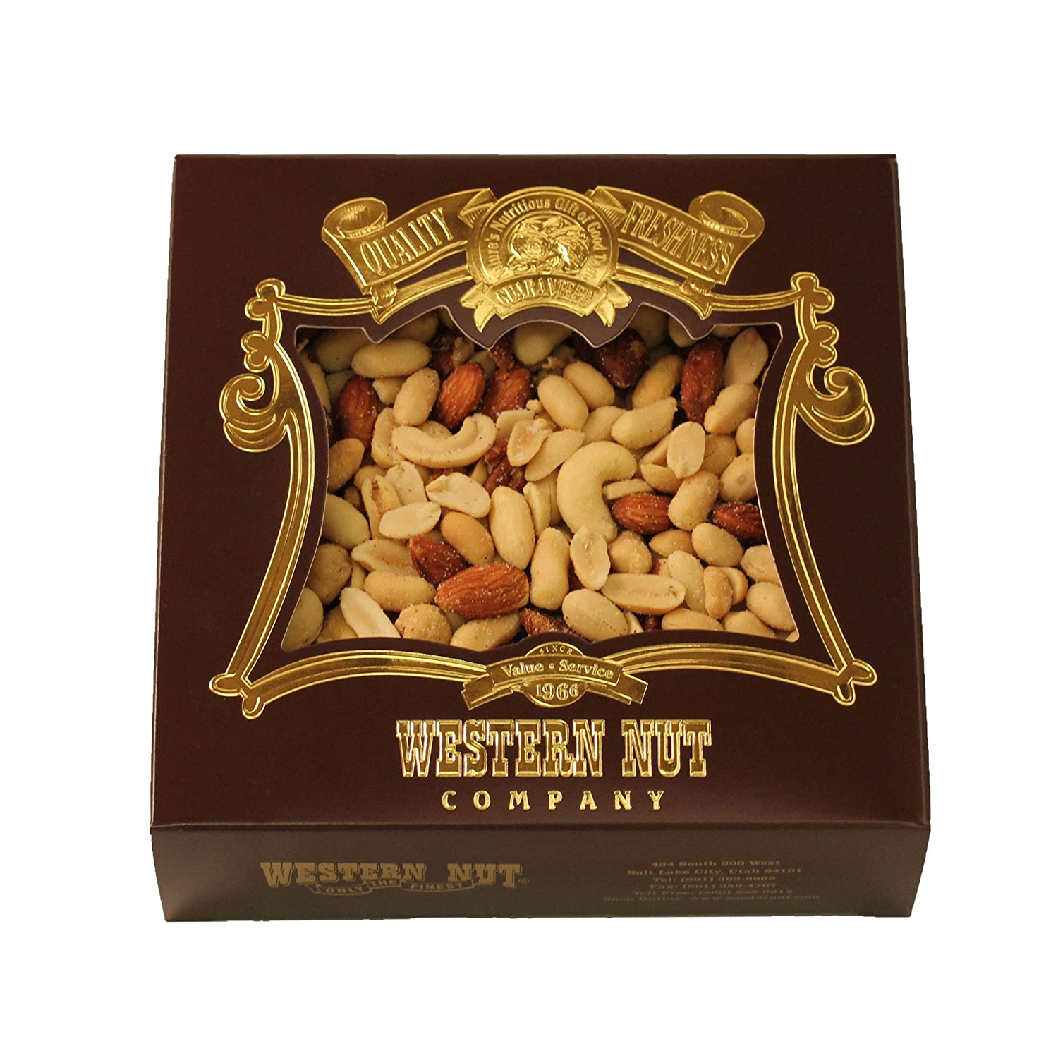 Western Nut Over item handling Heritage Gift Box Wrapped Roasted Del New product! New type Salted