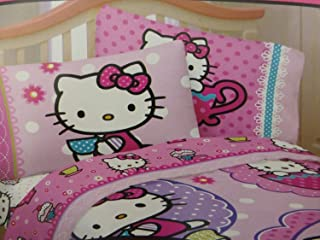 Hello Kitty High Tea Scented Sheet Set- 3 Piece Twin