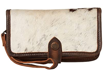 STS Ranchwear Cowhide Crossbody Wallet (Cowhide/Tornado Brown) Bags