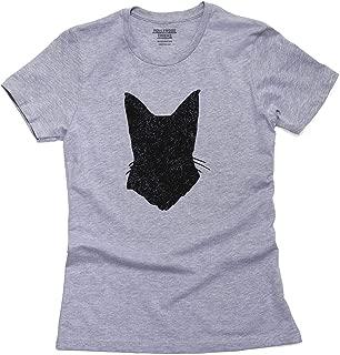 Siamese Cat Head Simple Silhouette 100% Women's Cotton T-Shirt
