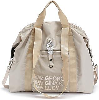George Gina & Lucy Logo Nylon Bagnificent Hand Bag Vanilla & Cream