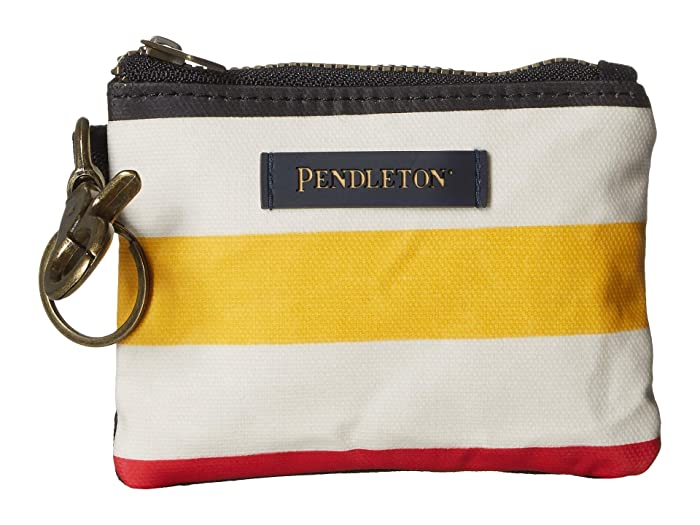 Canopy Canvas ID Pouch Key Ring (Glacier Stripe) Travel Pouch