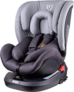 Venture Fusion 360 Silla de coche, Compatible con ISOFIX, Grupo 0+/1/2/3 (Recién nacidos - hasta los 36 kg) Gris