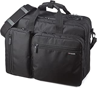 SANWA 15.6-inch Laptop Computer & Tablet Backpack with Combination Lock, Expandable Business Briefcases, Convertile Shoulder Bag Handbag, Compatible with MacBook Dell Lenovo Notebook, for Men/Women