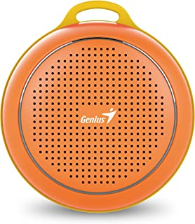 Genius Bluetooth Speaker Sp-906Bt, 5 Hours Play Time, 500Mah Battery With Carabiner, Bold Orange