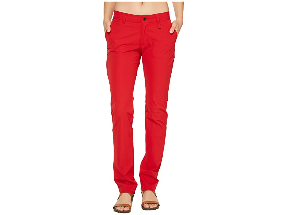 Fjallraven Abisko Stretch Trousers (Red) Women