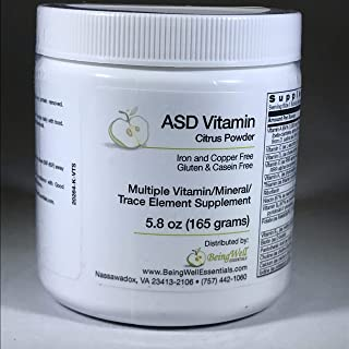 ASD Vitamin Powder - Citrus Flavor - for Children with Autism Spectrum Disorder Multiple Vitamin/mineral/trace Element Sup...