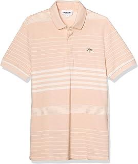[ラコステ] ポロシャツ [公式] レギュラーフィット コットン×リネンストライプポロシャツ(半袖) メンズ PH5044L