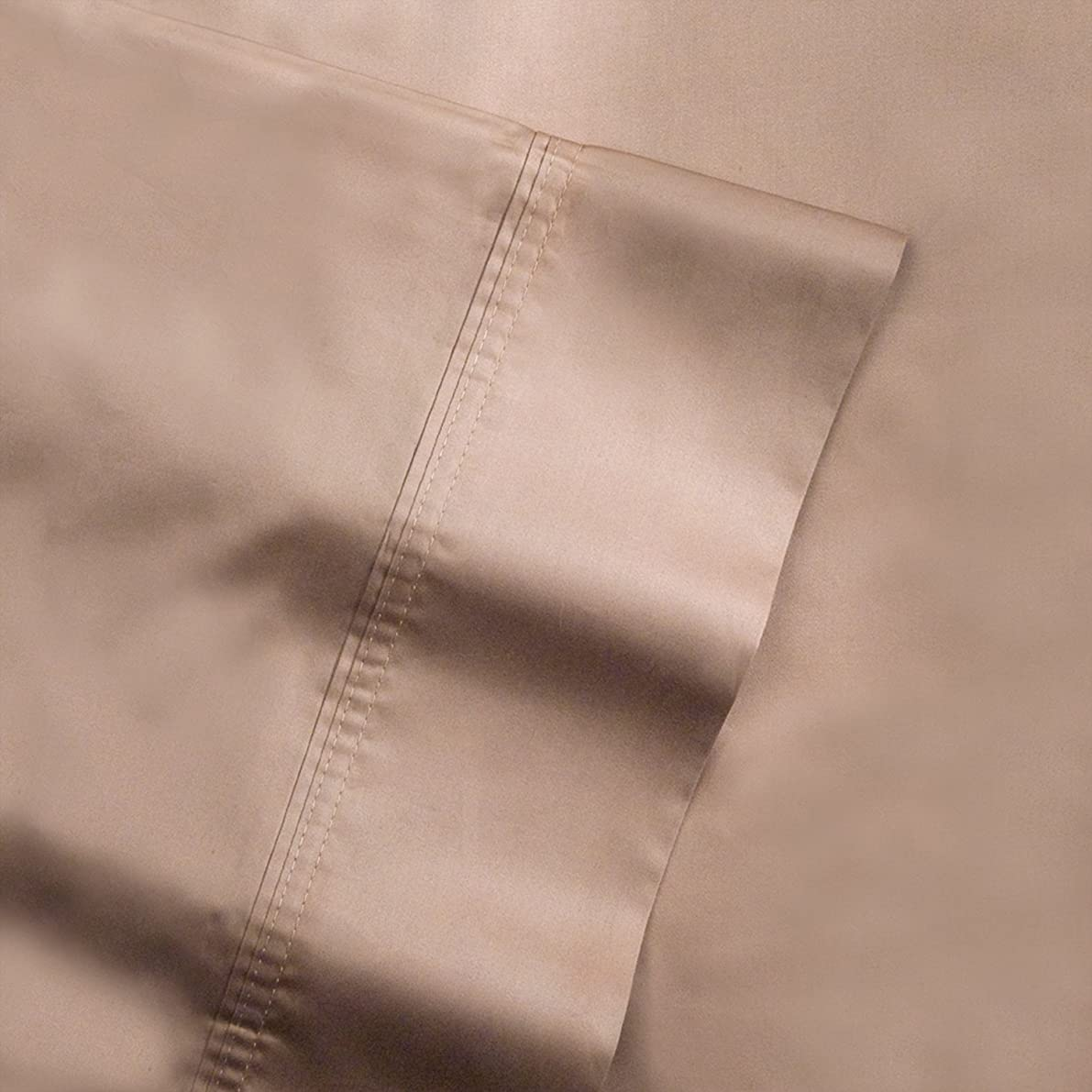 Pointehaven 500-Thread Count 100-Percent Egyptian Cotton King Pair Pillowcases, Expresso