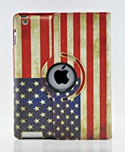 LiViTech(TM) 360 Degree PU Leather Vintage USA/UK Flag Style for Apple iPad 2 3 4 (Smart Cover's Sleep & Awake) (UK)