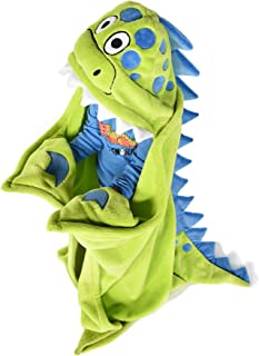 Dino-Snore Childrens Hooded Animal Critter Blankets by LazyOne | Childrens Dress Up Large Travel Blanket (ONE Size)