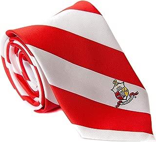 Kappa Alpha Psi Fraternity Necktie Tie Greek Formal Occasion Standard Length Width (Striped Crest Necktie)