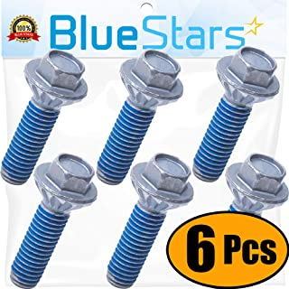 Ultra Durable DC60-40137A Washer Spider Hex Bolt Replacement Part by Blue Stars - Exact Fit for Samsung Kenmore Washers - Replaces AP4203183 - PACK OF 6
