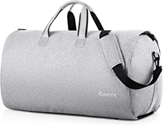 Gonex Suit Bag for Travel, Carry on Garment Bag Convertible Hanging Duffle For Men Women Gray
