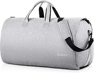 Gonex Suit Bag for Travel, Carry on Garment Bag Convertible Hanging Duffle For Men Women Gray
