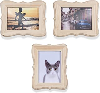 Wallniture 5x7 Unfinished Wood Victorian Picture Frames DIY Projects Crafting Photos Set of 3