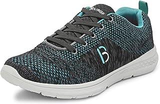 حذاء الجري Loire-6 للرجال بلون رمادي واحمر من بورج