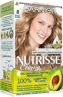 comprar comparacion Garnier Nutrisse Creme Coloración Nutritiva Permanente, Tinte 100% Cobertura de Canas con Mascarilla Nutritiva de 4 Aceite...