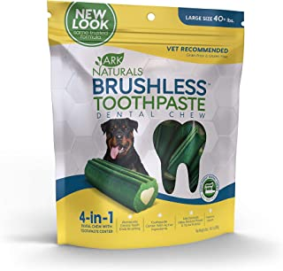 Ark Naturals Brushless Toothpaste, Dog Dental Chews for Large Breeds, Vet Recommended for Plaque, Bacteria & Tartar Control