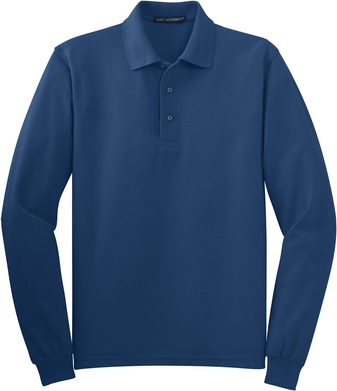 Port Authority Tall Silk Touch Long Sleeve Polo. TLK500LS