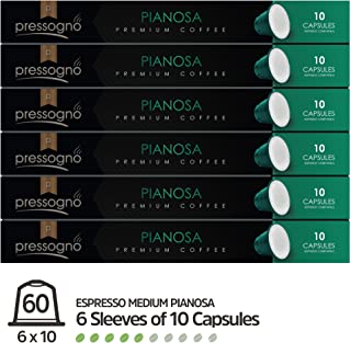 PRESSOGNO 60 Pack NESPRESSO Compatible (OriginalLine) Coffee Capsules (Medium)