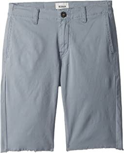 Raw Hem Sateen Chino Shorts in Powder (Big Kids)