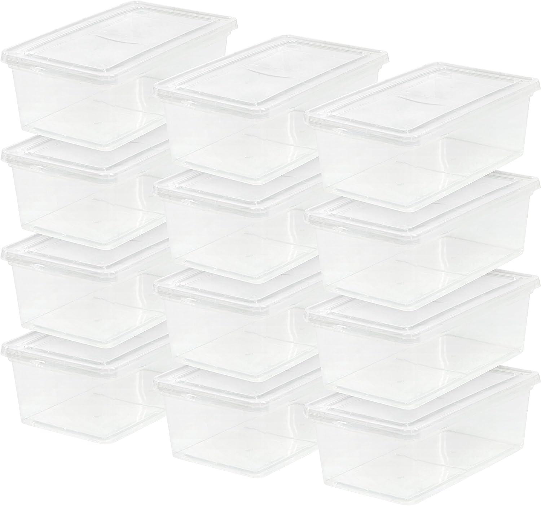 IRIS USA 6 Max 66% OFF Qt. Plastic Storage Tote Ranking TOP3 Bin wit Organizing Container