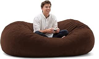Big Joe Fuf Foam Filled Bean Bag Chair, Espresso Comfort Suede, XL