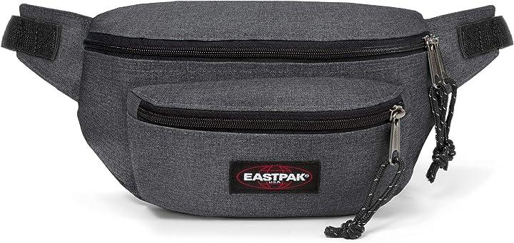 Marsupio eastpak doggy bag marsupio portasoldi, 27 cm, 3 l, grigio (black denim) EK07377H