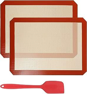 GWHOLE ベーキングマットシリコーン シルパットシリコン焼き菓子用マット40 x 30 cm 耐熱クッキーシート水洗い可能 繰り返し使用可能