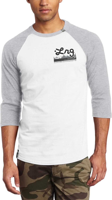 LRG Men's Big-Tall Core Collection 3/4 Sleeve Raglan Baseball T-Shirt