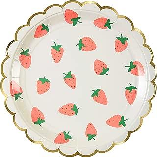 Meri Meri Strawberry Large Plates