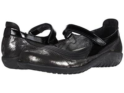 Naot Kirei (Soft Black Leather/Metallic Onyx Leather/Black Luster Leather) Women