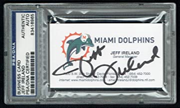 Jeff Ireland signed autograph Business Card Minnesota Miami Dolphins GM PSA Slab