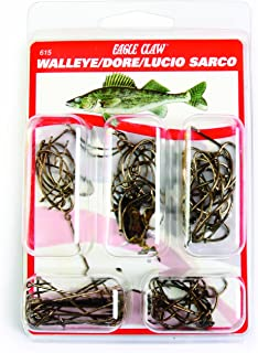 Eagle Claw Walleye Hook Assortment, 80 Piece
