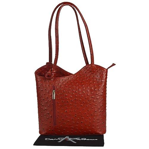 12286d3cc76a Ostrich Leather Handbags: Amazon.co.uk