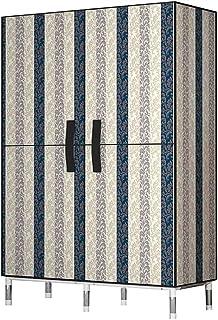 XINYALAMP Chambre Armoire Simple Tube en acier Ensemble audacieux Porte ouverte Couvercle Oxford Couvre épaisseur Armoire ...