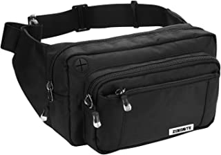 Zoegate Waist Pack Bag Fanny Pack for Men&Women Hip Bum Bag with Adjustable Strap for Outdoors Workout Traveling Casual Ru...